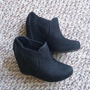 Fergalicious Downtown wedge booties 6